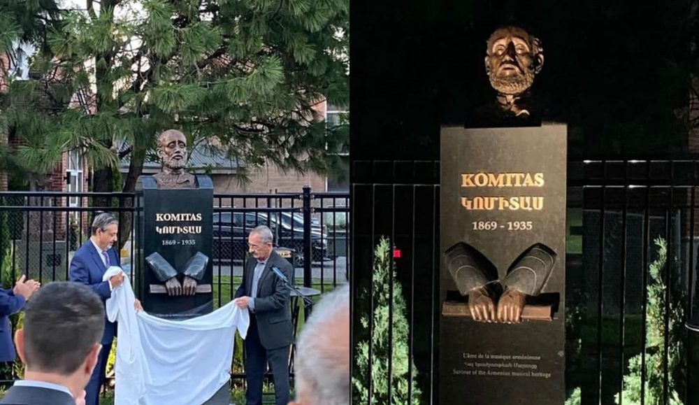 The monument of Komitas unveiled in Montreal - Armenian National Music (anmmedia.am)